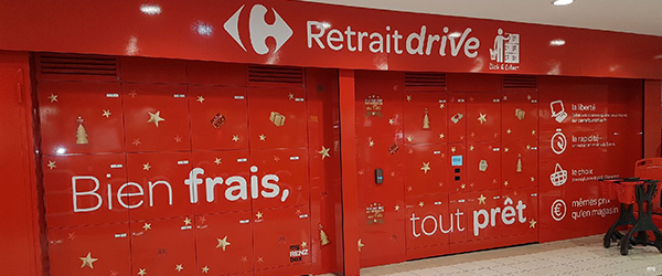 boites à colis drive click and collect